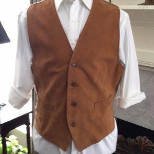 💥💯Holland &Holland London Suede Vintage Vest